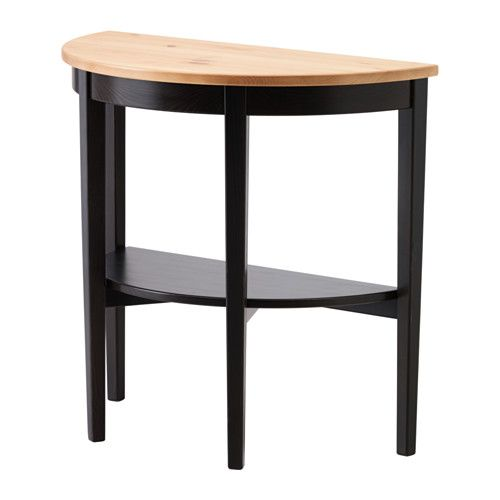 Ikea Arkelstorp Console Table Black Solid Wood Is A Durable Natural Material Separate Shelf For Magazines Etc Helps You Keep Your Things Organized