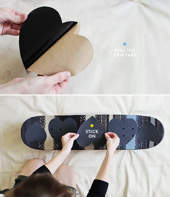 skateboard diy grip tape cutouts