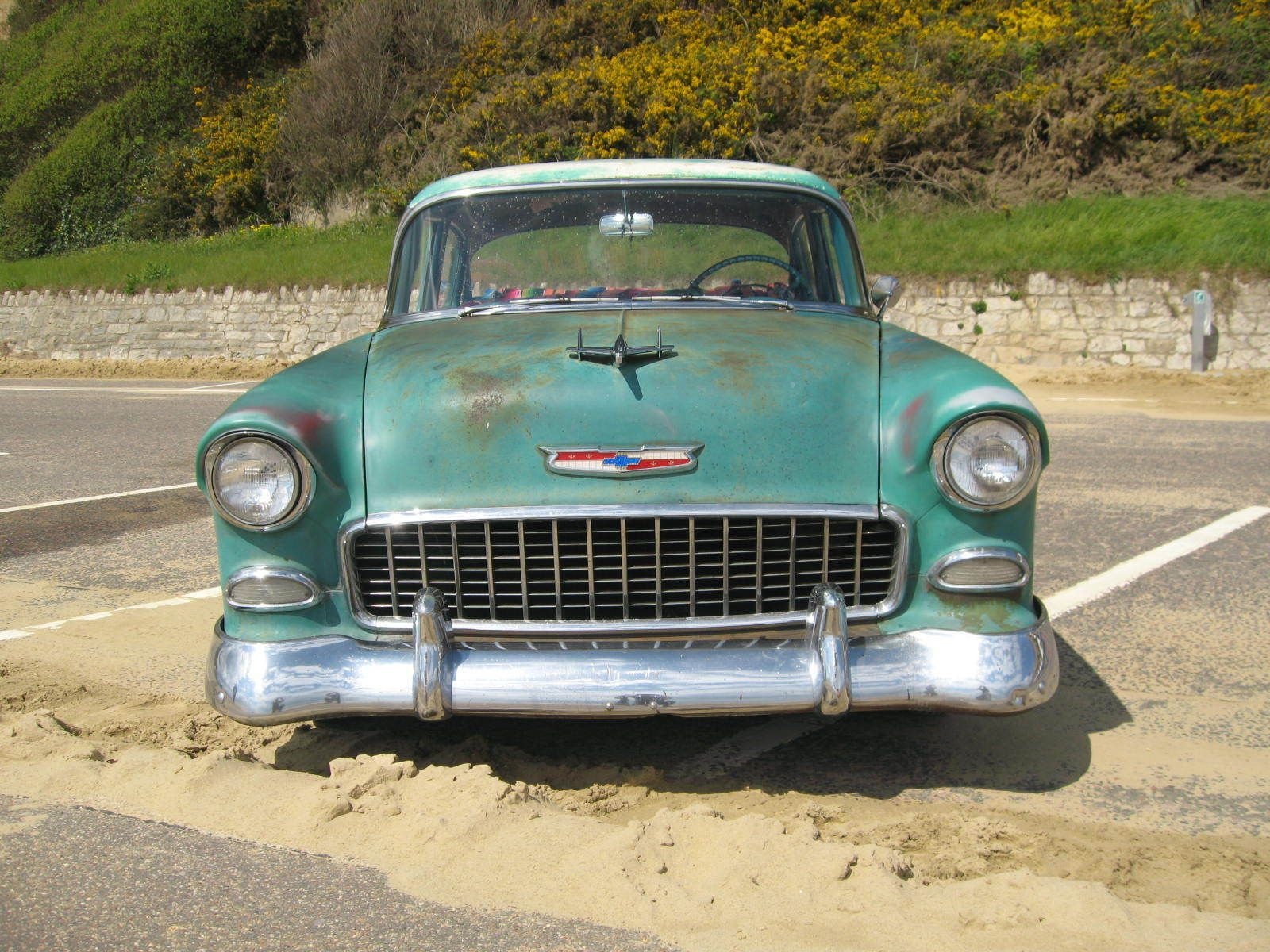 small resolution of outstanding patina 55 chevy