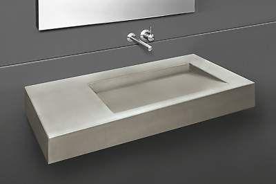 hightech design products ag rampe 1 beton waschtisch ra1 100 00 waschbecken infomall. Black Bedroom Furniture Sets. Home Design Ideas