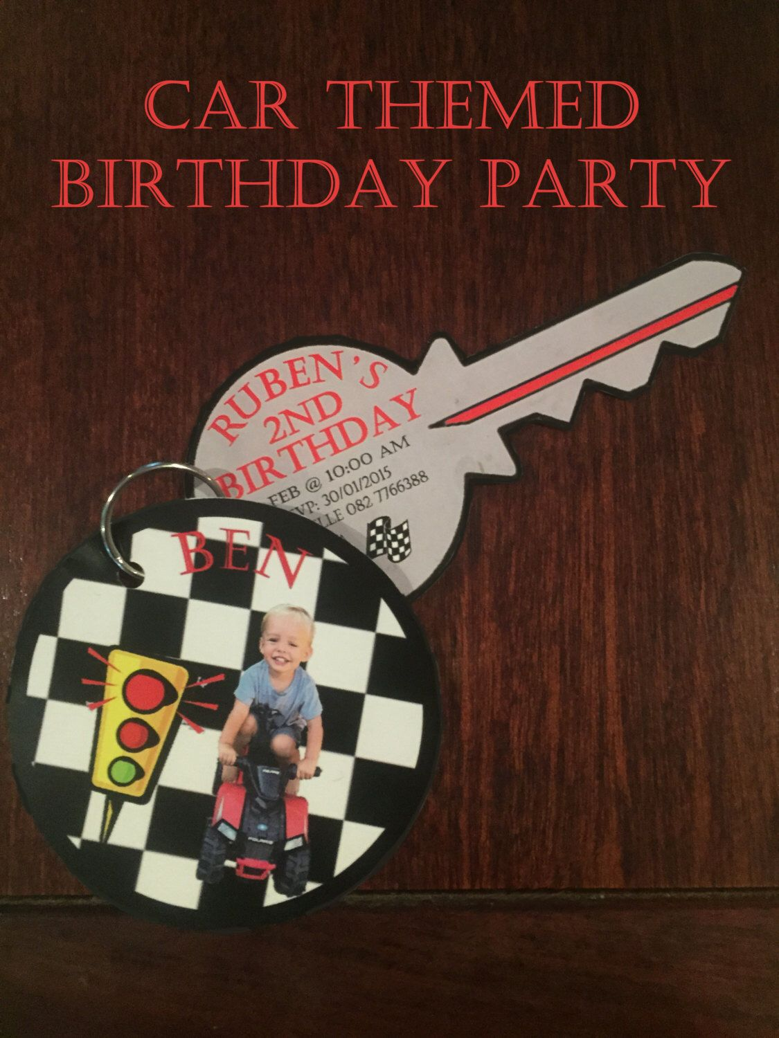 Car themed birthday party invitation | Etsy