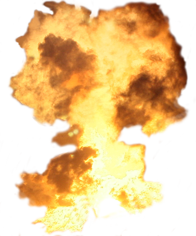 Big Explosion With Fire And Smoke Png Image Picsart Background Explosion Image