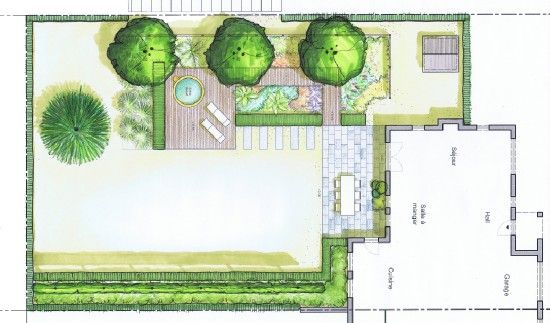jardin avec jacuzzi cr ations 4landscape pinterest jacuzzi. Black Bedroom Furniture Sets. Home Design Ideas