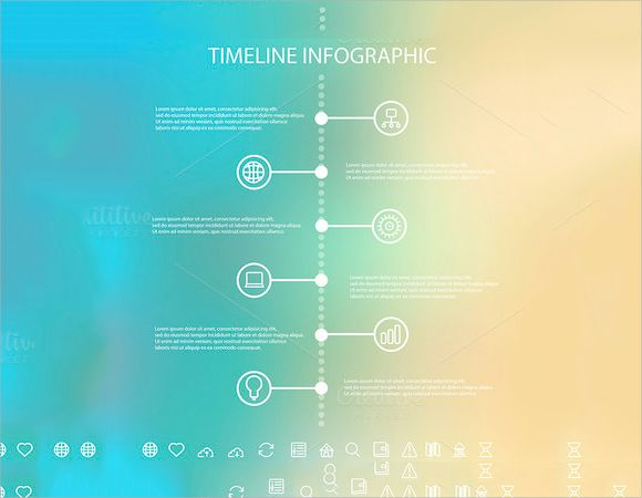 Sample Excel Timeline Chart Template  Powerpoint Templates