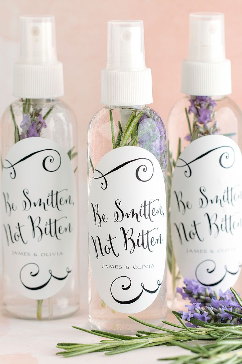 Diy bug spray wedding favors cheap favors favors and sprays for Cheap wedding supplies