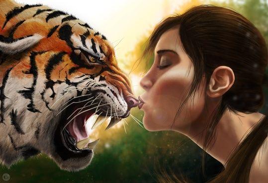 Tiger Kiss An Art Print By Tom Velez Tiger Pictures Tiger Art Dark Art Illustrations