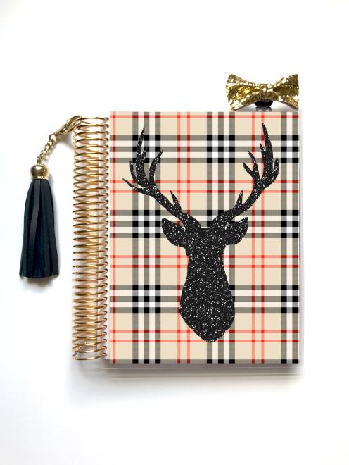 Oh Deer (Faux Glitter) Planner Cover Glitter planner