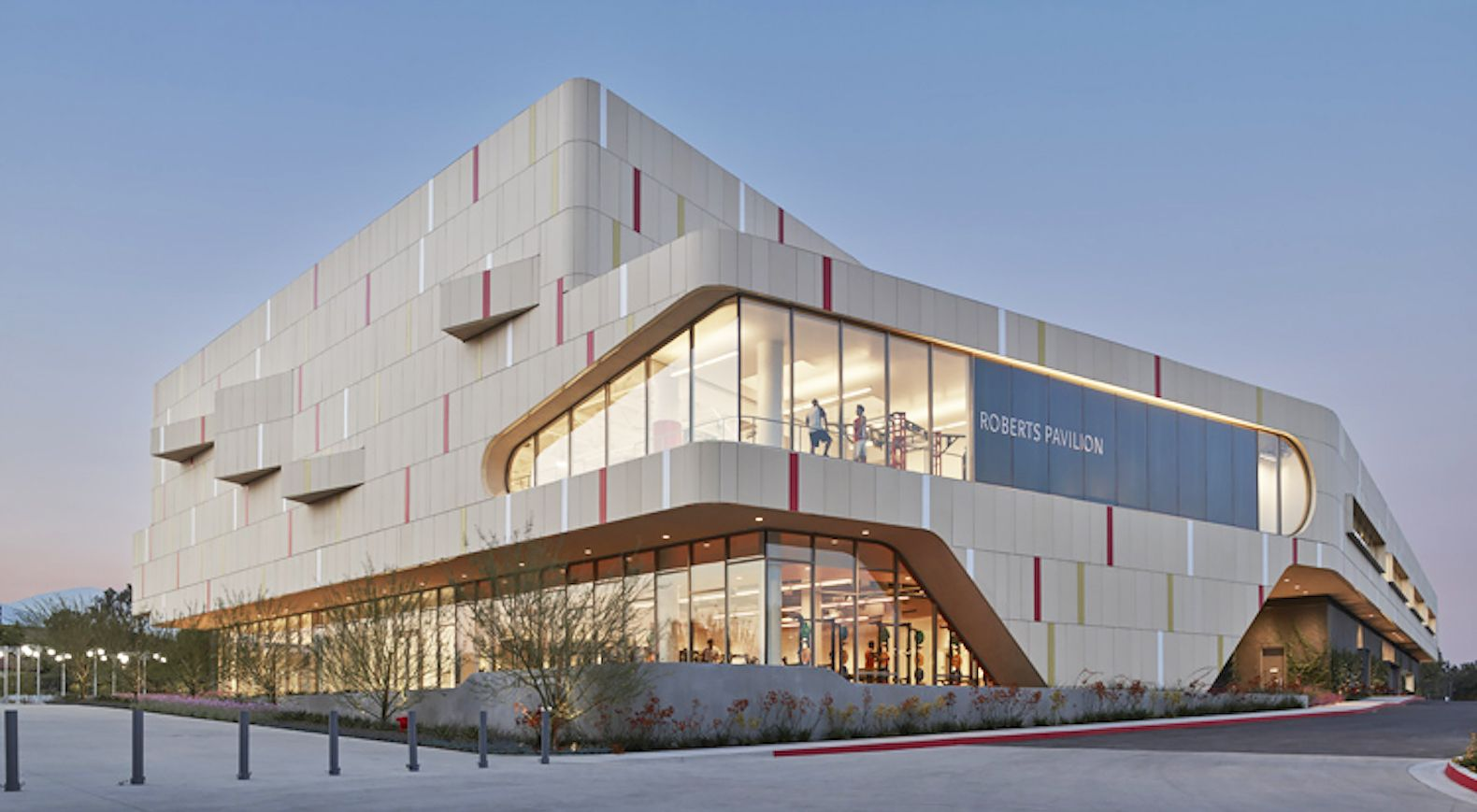 Sustainable fitness center combines good looks and an ecofriendly mantra in California    is part of architecture Old New Pictures - John Friedman Alice Kimm Architects designed Roberts Pavilion, an ecofriendly campus building at Claremont McKenna College that serves as an athletics center and social hub