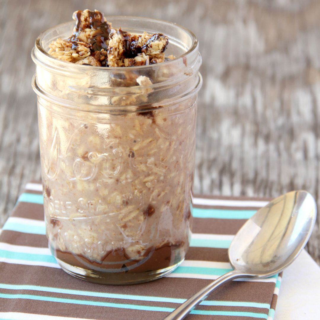 This post first appeared over at Real Housemoms where I'm a contributor. Whether you like your overnight oats hot or right out of the fridge, these Nutella Overnight Oats will get your day off to a great start. I usually make fruit and nut overnight oats, like Pineapple Mango Overnight Oats, but kids prefer Nutella.  And by prefer, I mean they scream for anything that's covered in it.  Nutella toast, Nutella biscuits, Nutella sandwiches, Nutella cookies...seriously they are little Nutella...