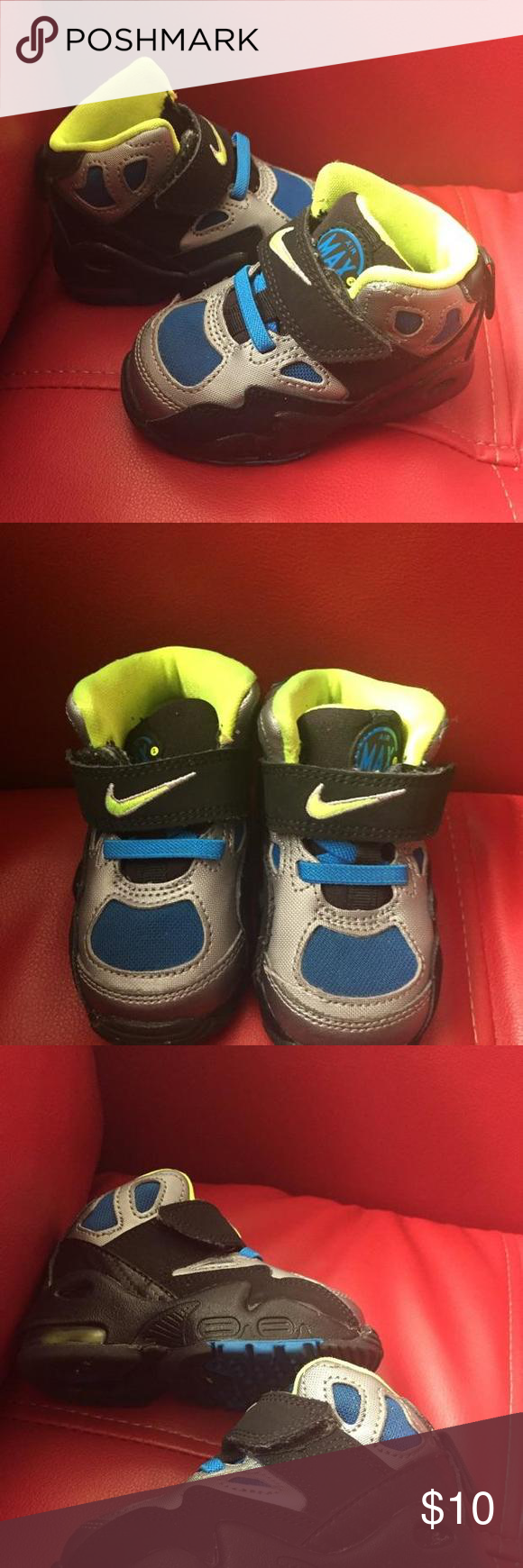 Air Max Nike High Tops Pinterest Nike high, Velcro straps and