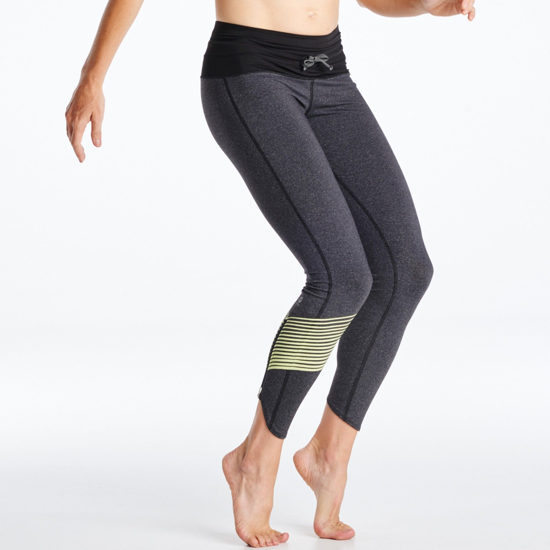 A running tight inspired by Kara Goucher, the KG Tights are your ultimate warm up, cold weather running tight. A wide waistband, compressive material, and zipper opening at the ankle.