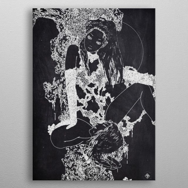 SEXY GIRL JAPANESE by FARKI15 DESIGN | metal posters - Displate | Displate thumbnail
