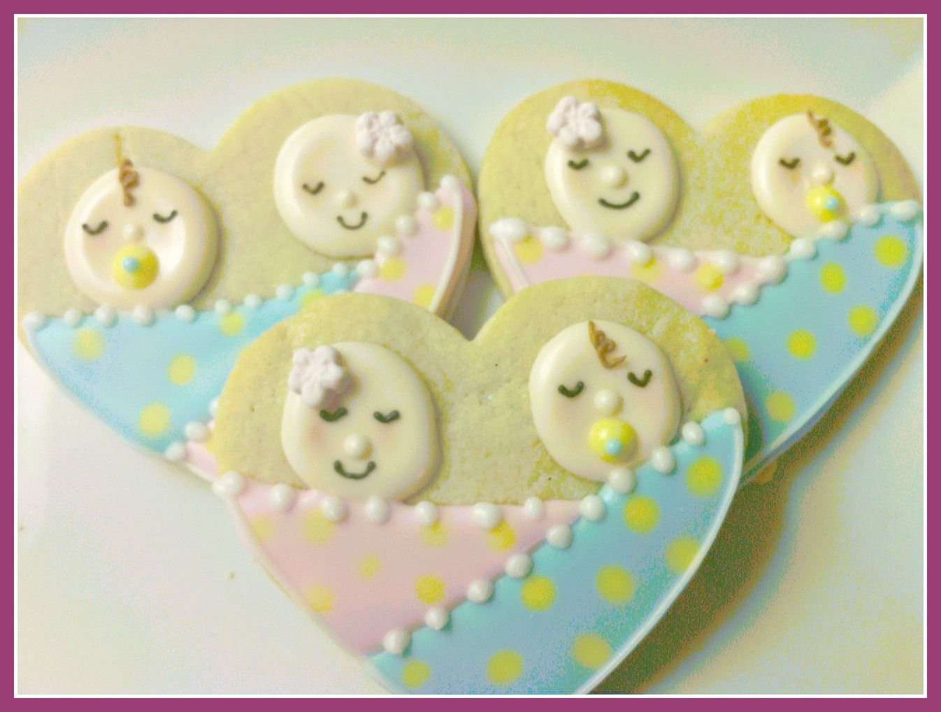 Good Twins Baby Shower Cookies ~ These Look Perfect For The Celebration Of Twins!