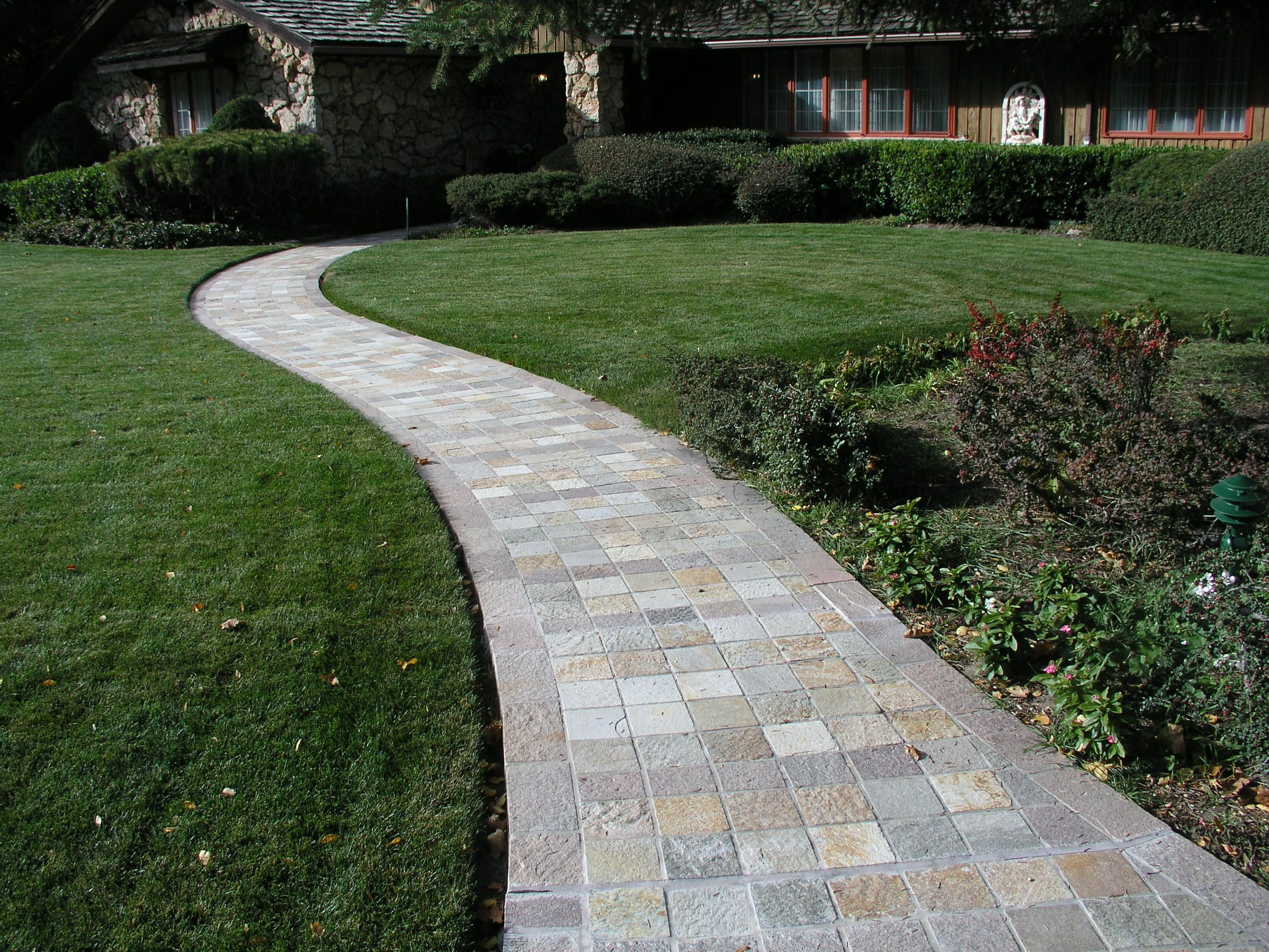 Awesome Well Made Patio Pavers Home Depot Walkway Design Garden