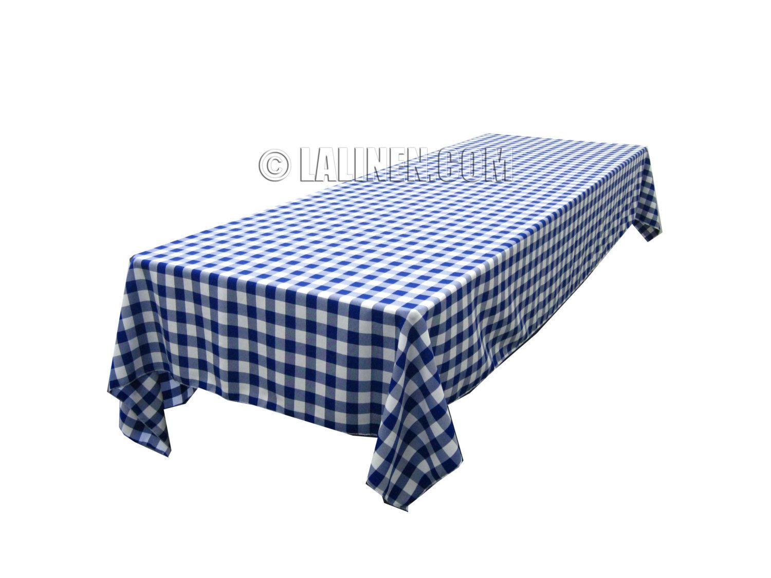 Polyester Checkered Table Linens . Made in the USA. $19.96, via Etsy.
