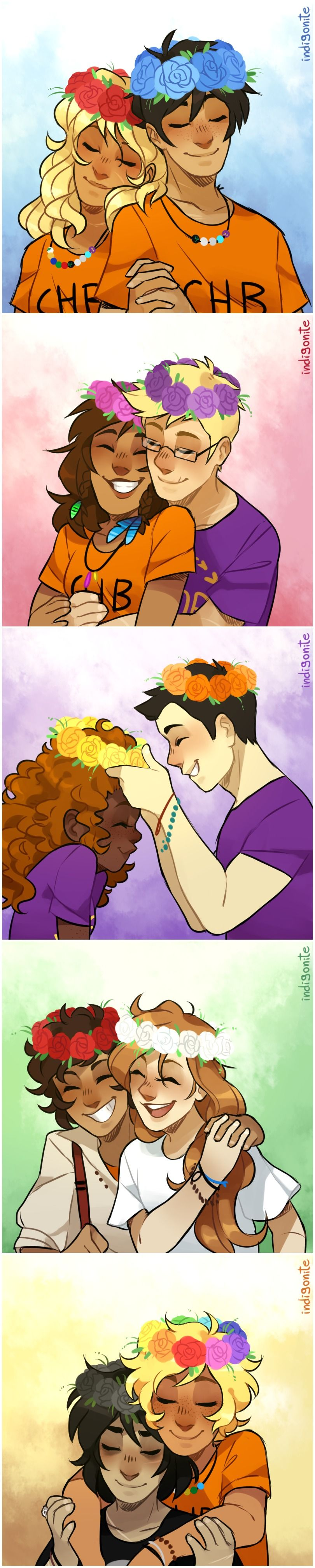 Flower crowns for everyone art by indigonite rick riordan in flower crowns for everyone art by indigonite piper percy jackson percy jackson couples izmirmasajfo