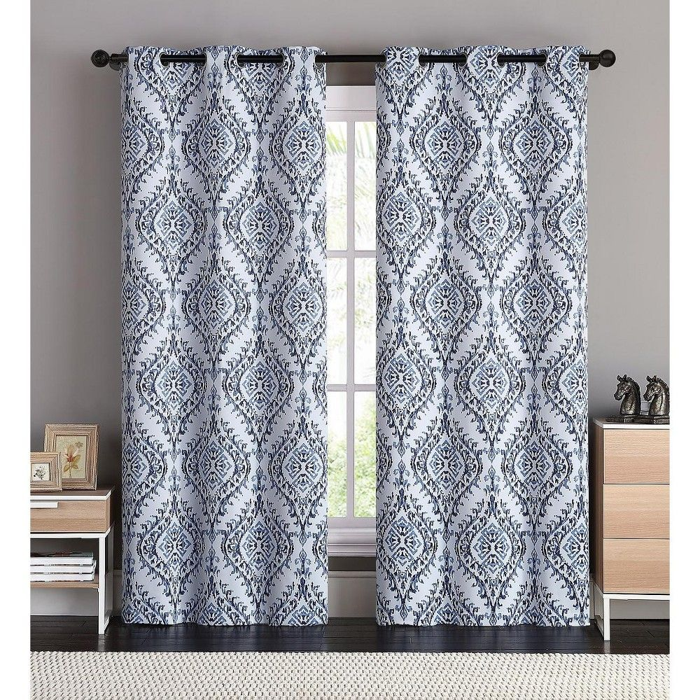 Vcny Home London Blackout Window Curtain Panel Pair 76 X 96