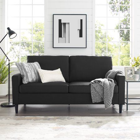 Mainstays 72 5 Apartment Sofa Woven Fabric Multiple Colors
