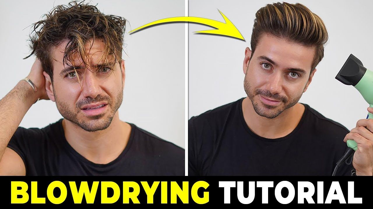 Hair how to use a hair dryer blowdrying tutorial mens
