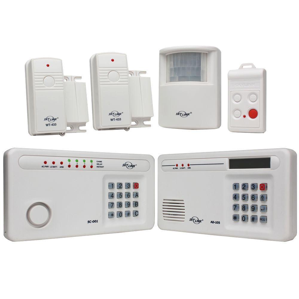 Skylink Wireless Security Alarm System Sc 1000 The Home Depot Wireless Home Security Systems Wireless Alarm System Home Security Systems