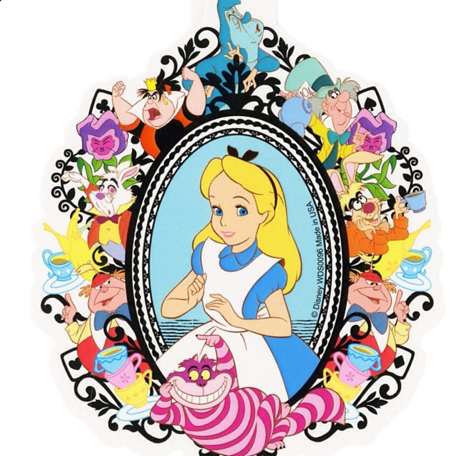 New alice in wonderland sticker from hot topic