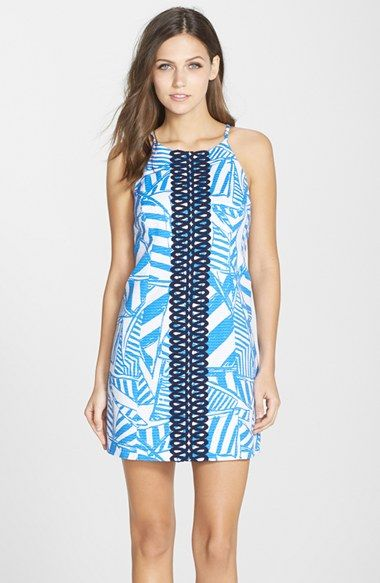 Lilly Pulitzer® \'Annabelle\' Lace Appliqué Shift Dress available at ...