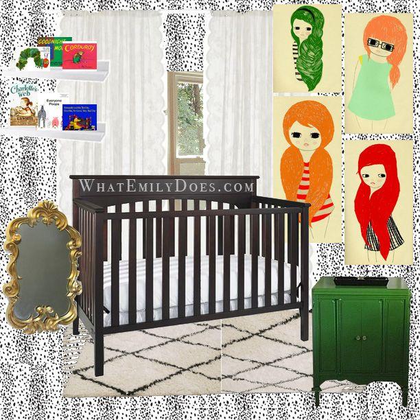 Little Girl Nursery mood board using the Leopard Skin ...