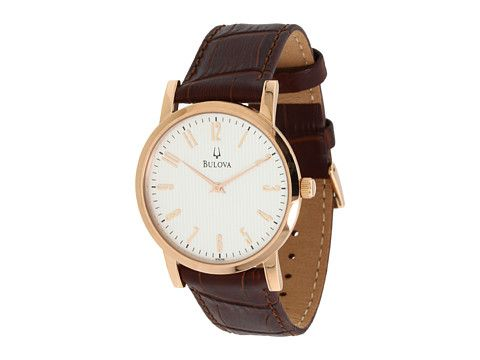 06954c259de Bulova Mens Dress - 97A106 Rose Gold Brown - 6pm.com