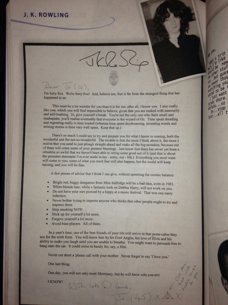 write a letter to jk rowling