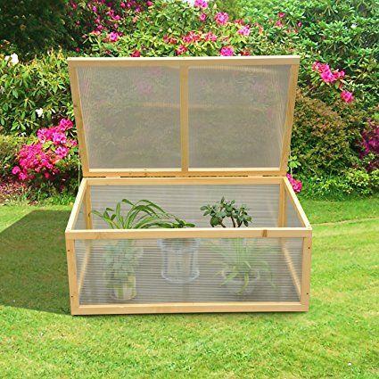 outsunny mini serre de jardin culture cadre en bois panneaux en polycarbonate 100l x 66l x 40hcm neuf 43 - Mini Serre De Jardin