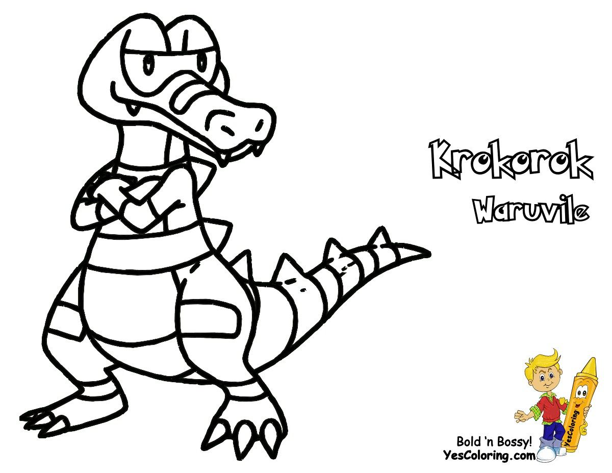 Pokemon Krookodile Coloring Pages From The Thousand Images On The