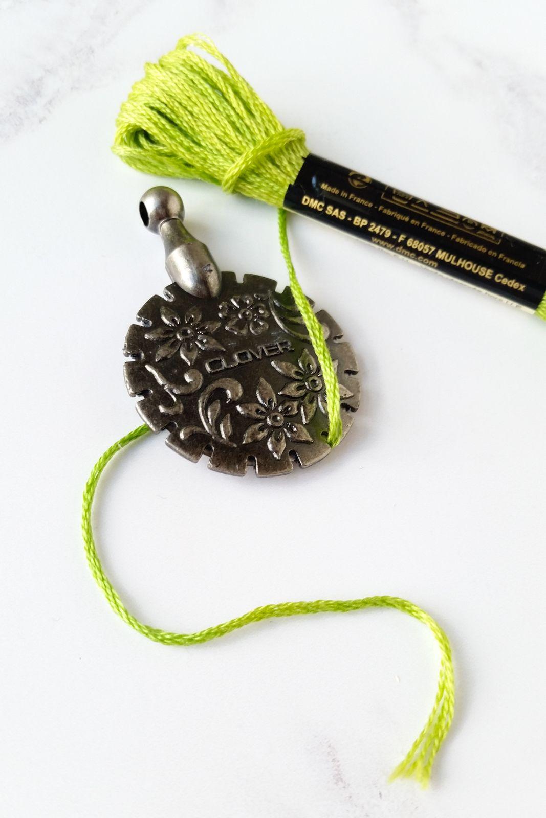 Clover thread cutter pendant stitch pendants and embroidery scissors clover thread cutter pendant mozeypictures Gallery