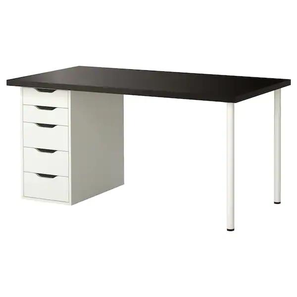 Linnmon Alex Table Brun Noir Blanc 150x75cm Ikea Canada Ikea Ikea Best Ikea Home Office Furniture