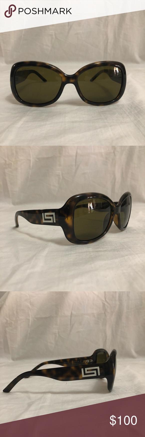 4f1e6a3cf96b Model  4177-H 108 73 Versace Accessories Sunglasses. Versace Dark Havana  Oval ...