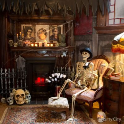Chilling and Cheeky Haunted House Ideas - Party City Halloween 1 - halloween house decorating ideas