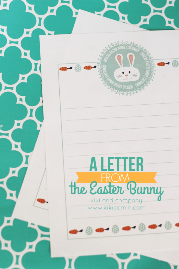 graphic relating to Letter From Easter Bunny Printable identified as Formal Easter Bunny Stationery Easter Easter, Easter