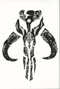 Mandalorian Mythosaur Skull Star Wars Tattoo Mandalorian Tattoo Star Wars Trooper