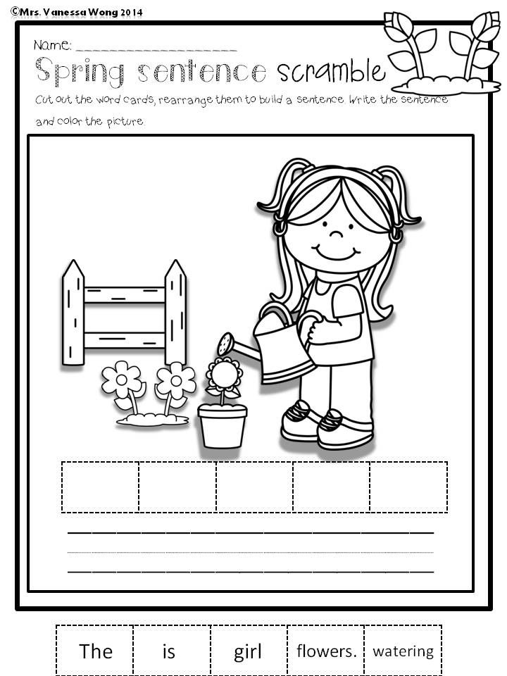 spring math and literacy no prep printables kindergarten long vowels literacy activities and. Black Bedroom Furniture Sets. Home Design Ideas