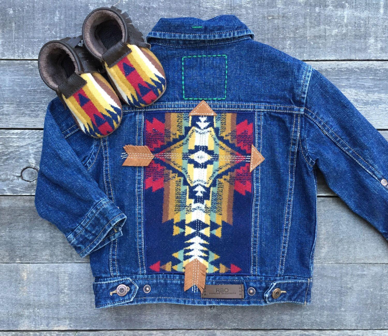 Cheyenne Hipster Jean Jacket 24 Months Pendleton Suede Etsy Jean Jacket Jackets Embellished Denim Jacket [ 1300 x 1500 Pixel ]