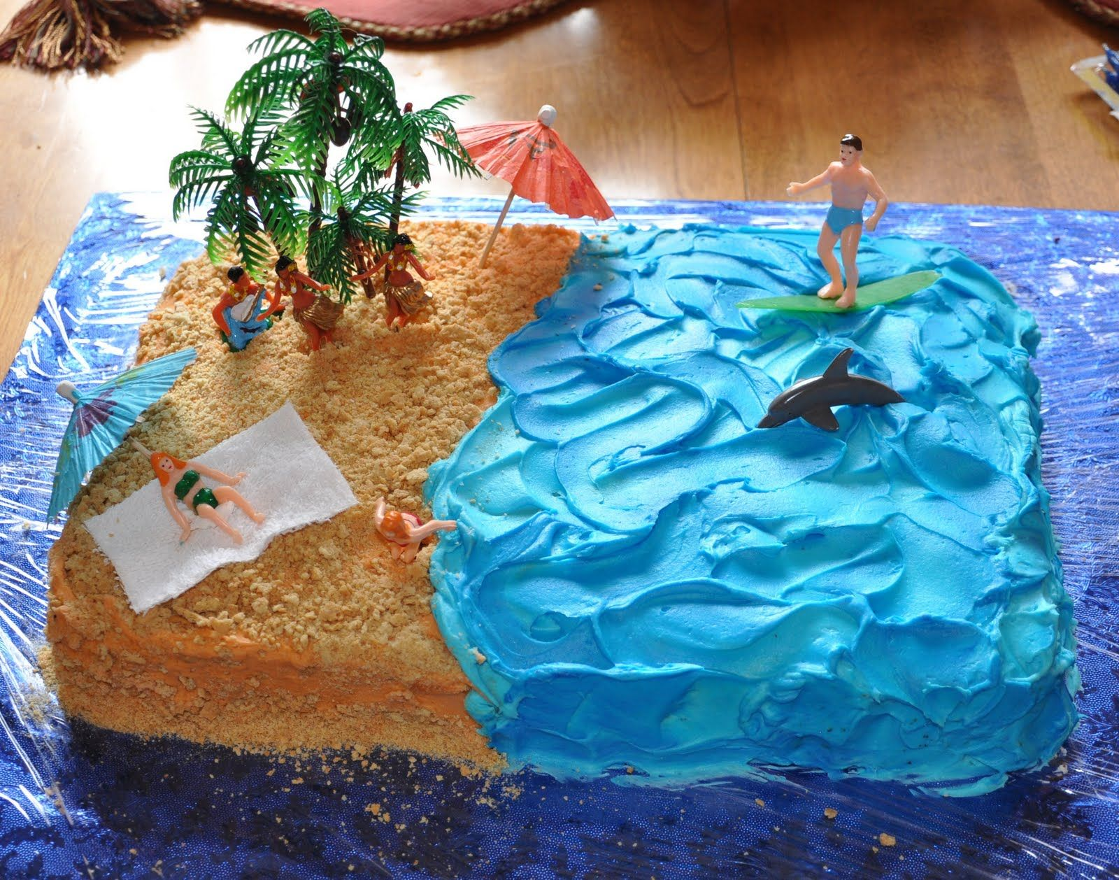 Hang 10 1 2 Birthday Beach Birthday Cake Beach Themed Cakes