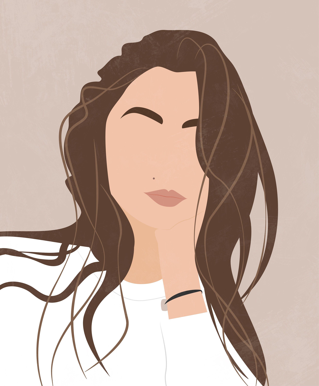 Photo of Custom Digital Portrait, Drawing from Photo, Minimalist Portrait, Digital Illustration, Social Media Avatar, Profile Picture