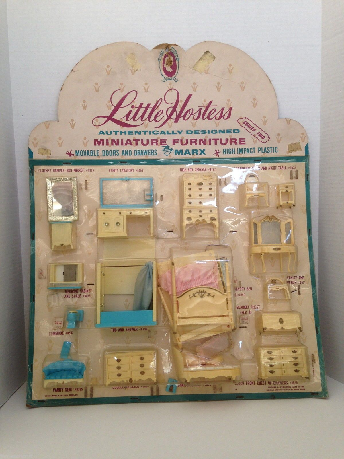 Vintage Store Display Marx Plastic Doll Furniture Little Hostess Bed ...