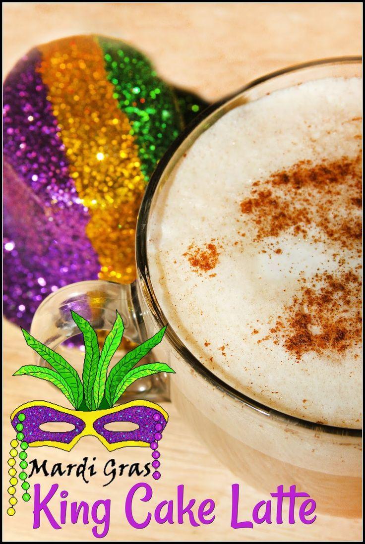 Mardi Gras King Cake Latte