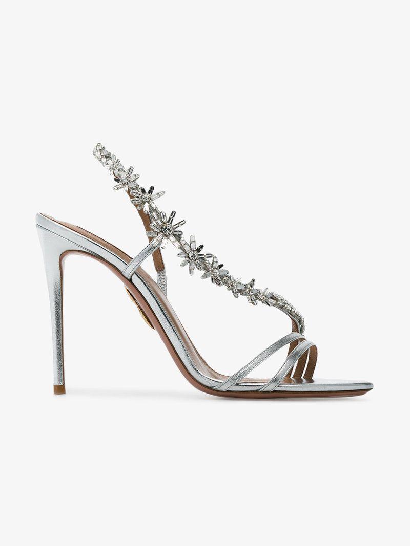 974423880 AQUAZZURA CHATEAU EMBELLISHED LEATHER SANDALS.  aquazzura  shoes ...