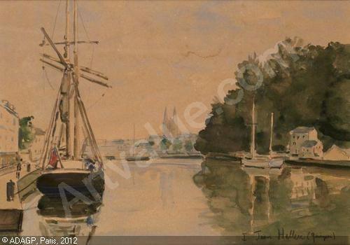 Jean Helleu Guerin Vue De Quimper Quimper Aquarelle Et Peintre