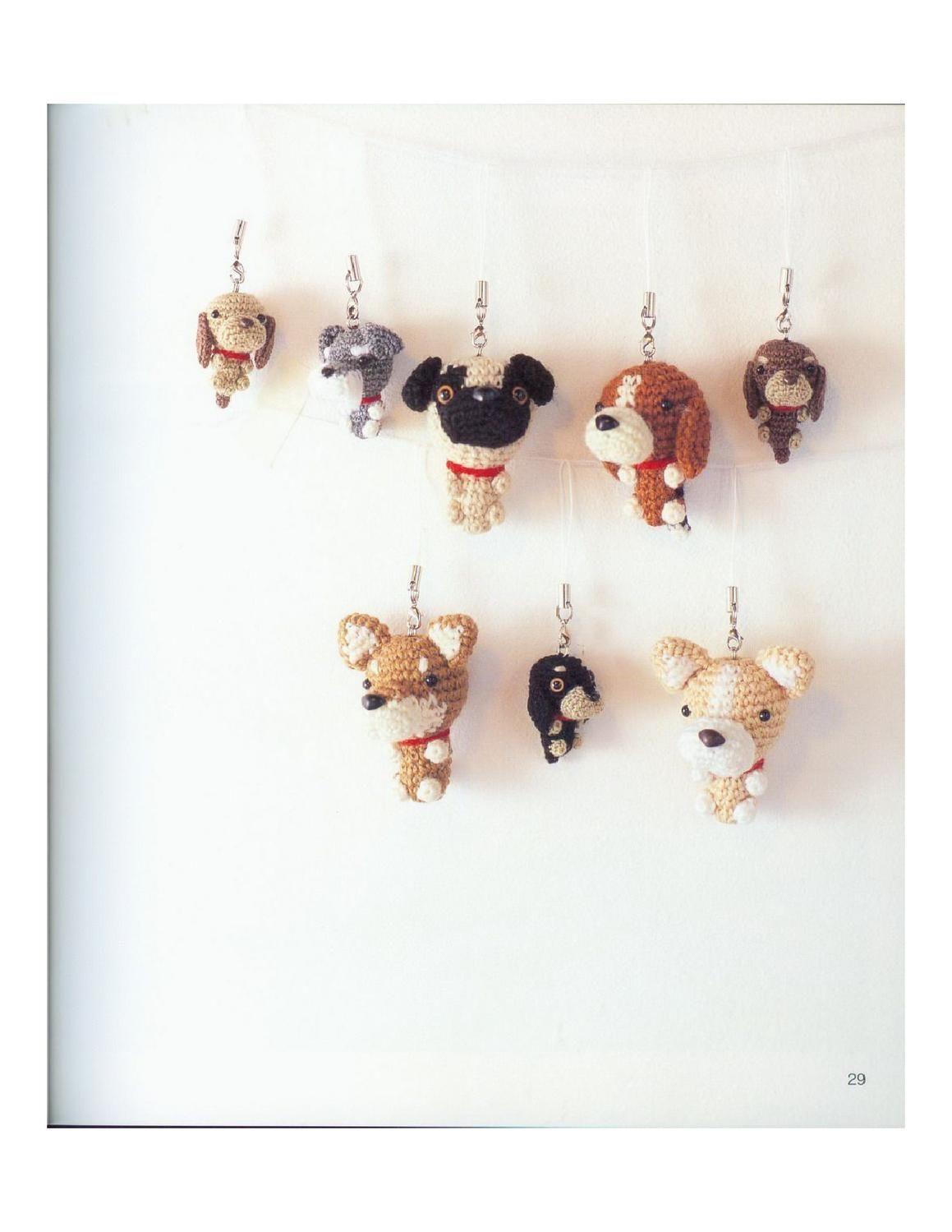 dog amigurui  Lindos perritos en amigurumi cada uno con sus patrones, estan increibles.