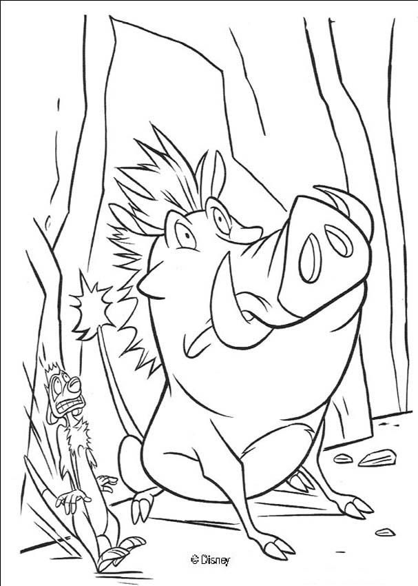 Terrified Pumbaa and Timon coloring page   Coloring Pages and Craft ...
