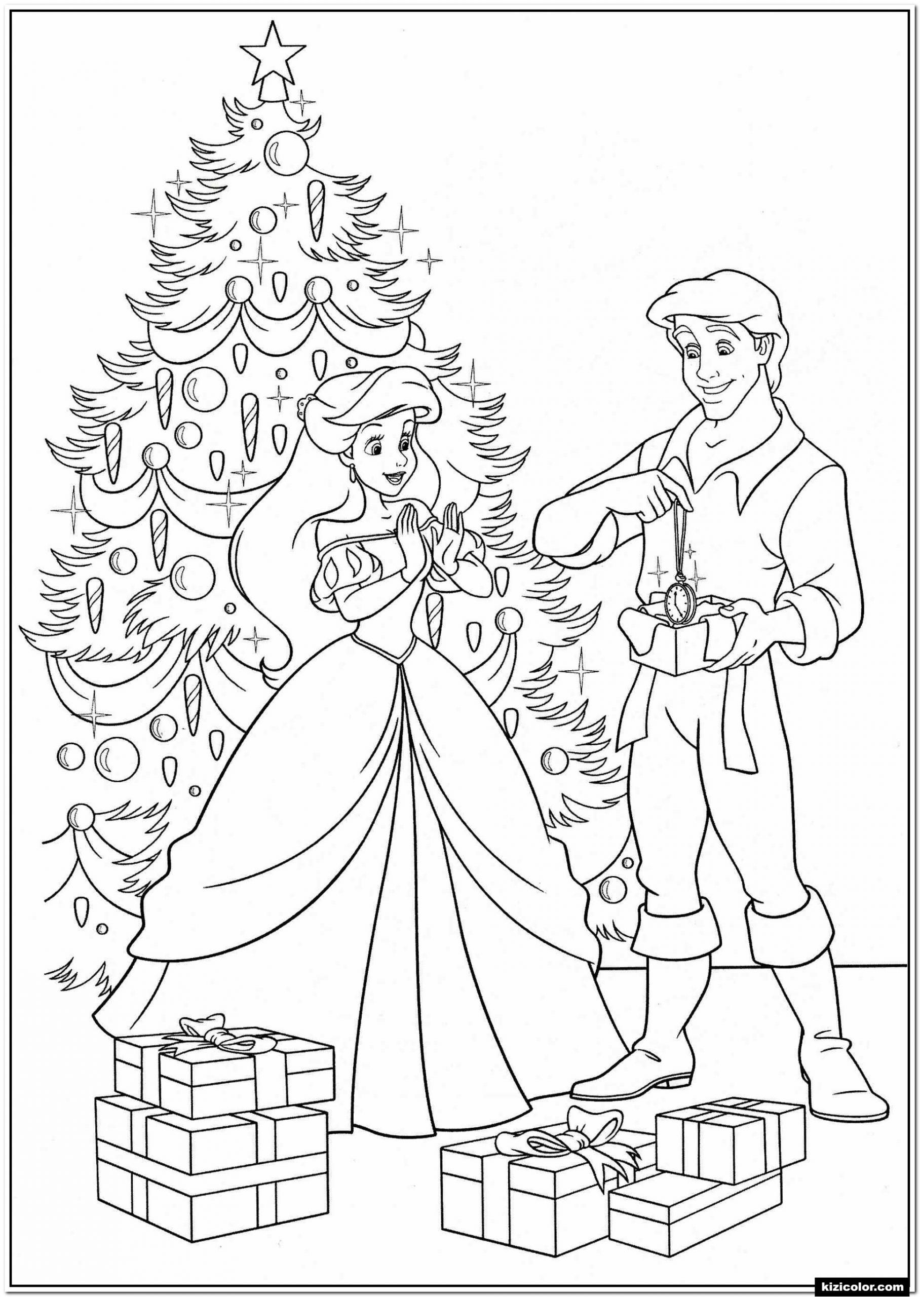 Princess Christmas Coloring Page Youngandtae Com Mermaid Coloring Pages Disney Princess Coloring Pages Princess Coloring Pages