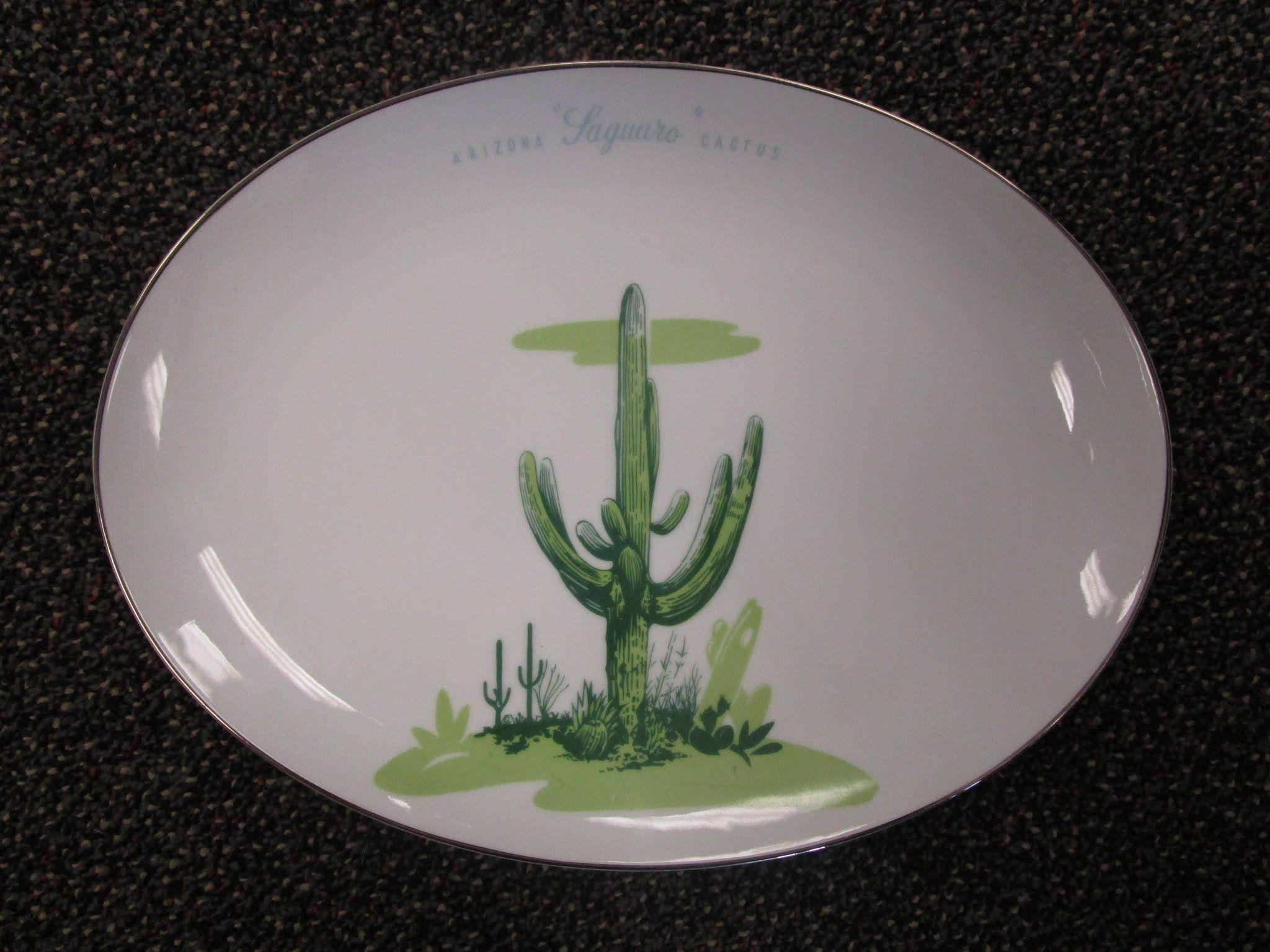 Vintage Blakely Arizona Cactus Serving Platter #arizonacactus