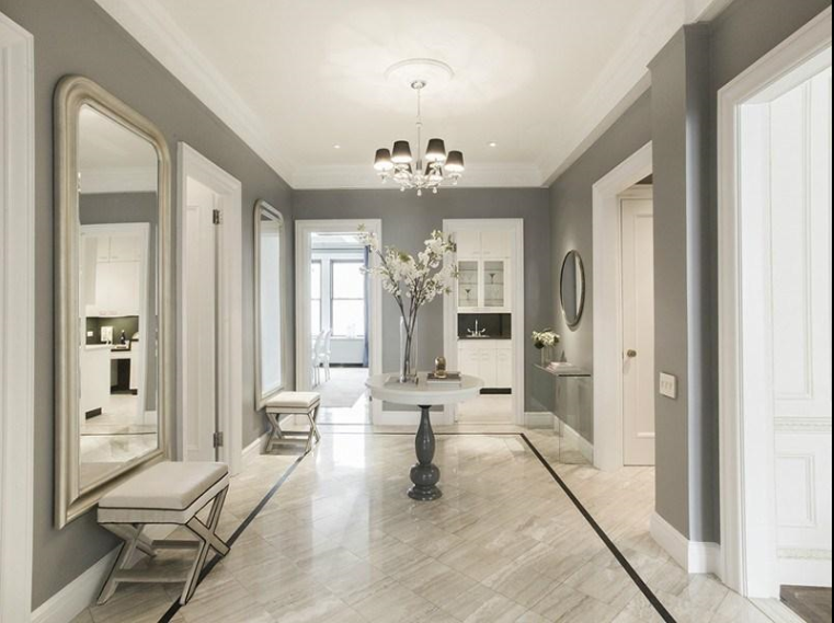 A posh park avenue apartment a foyer new apartment for Houzz small apartments